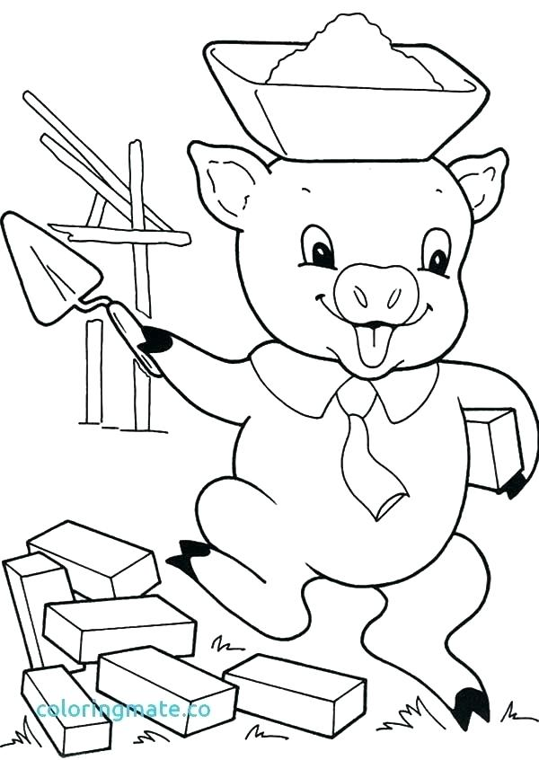 600x846 The Three Little Pigs Coloring Pages