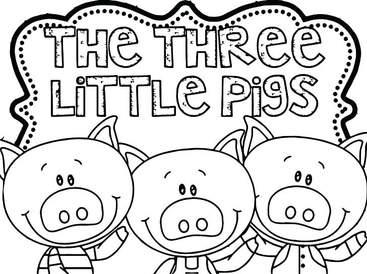 728x544 Little Pigs Coloring Page