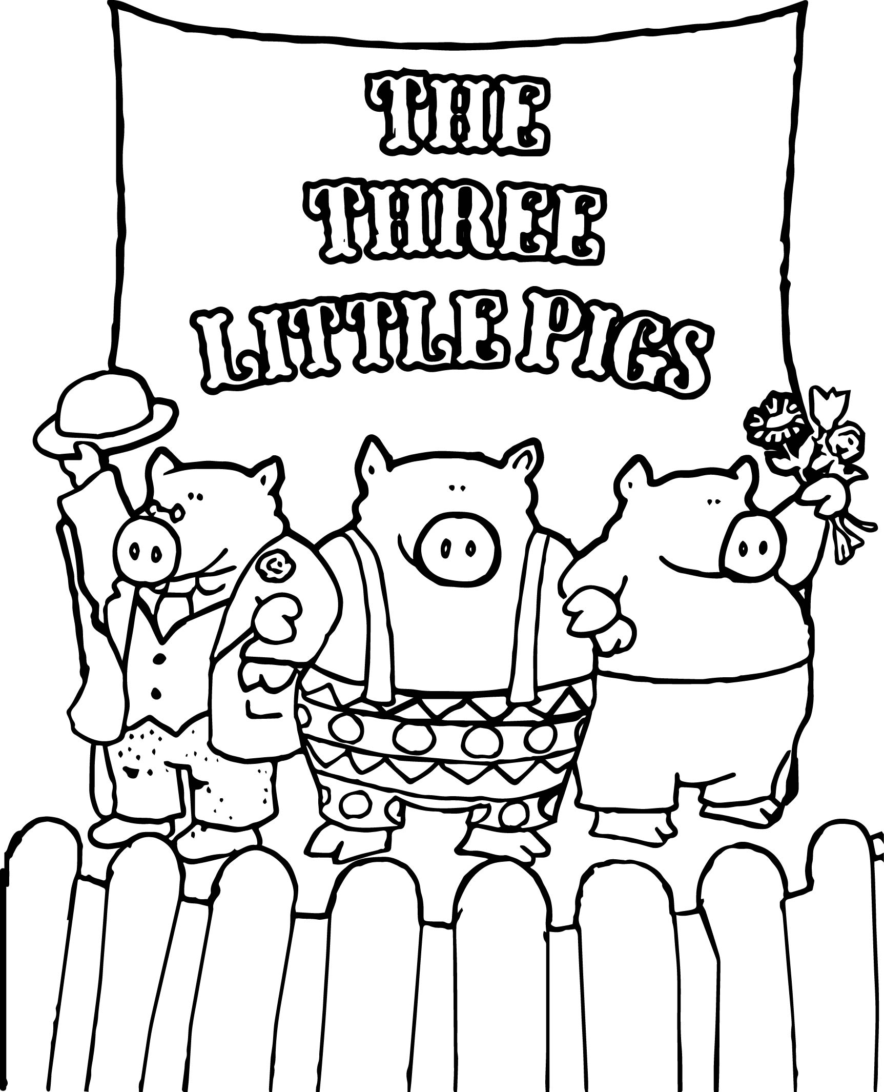 1725x2130 Celebrity Little Pigs Coloring Page Wecoloringpage