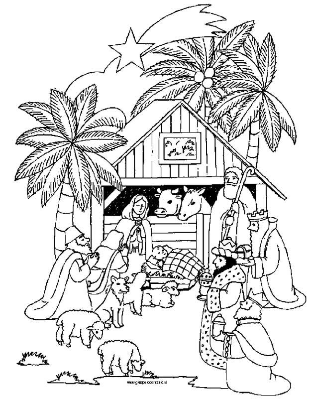 3 Wise Men Coloring Page