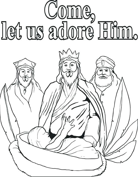 547x700 Magnificent Three Wise Men Coloring Page Sketch