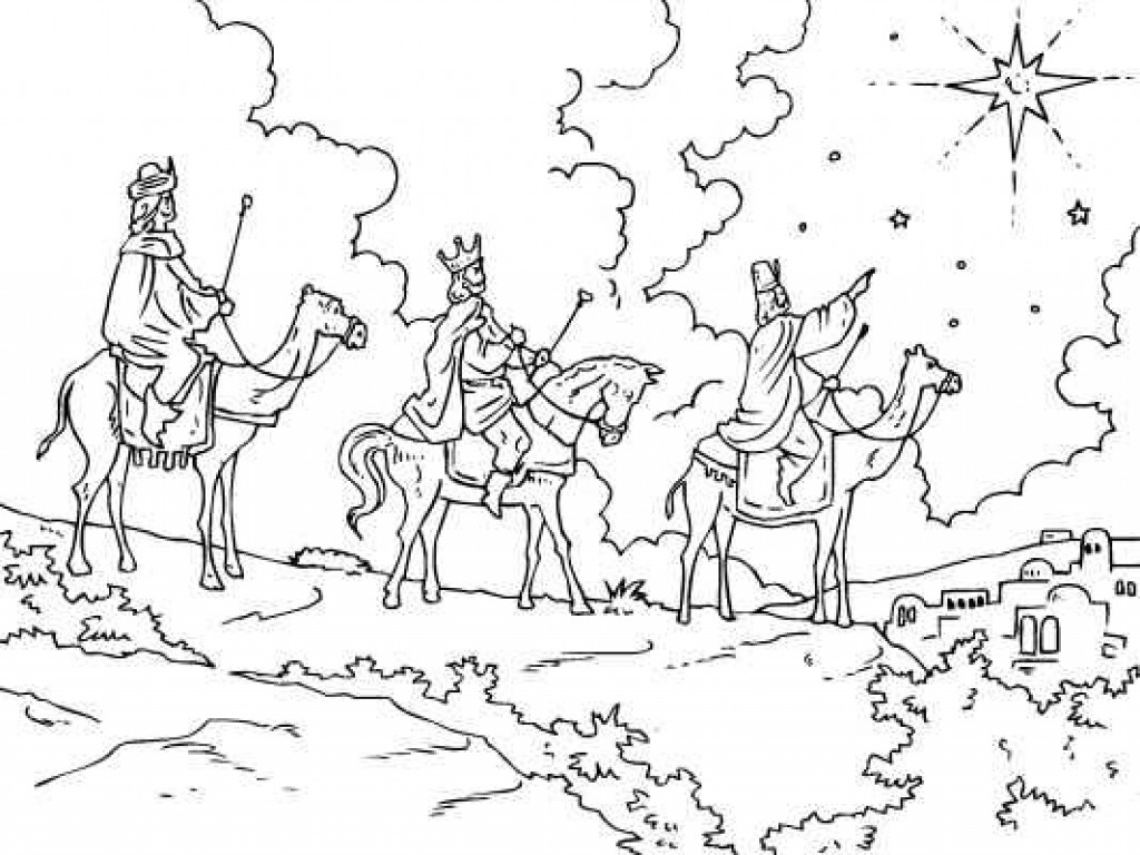 1024x768 Special Wise Men Coloring Page Bible Pages We Three Kings
