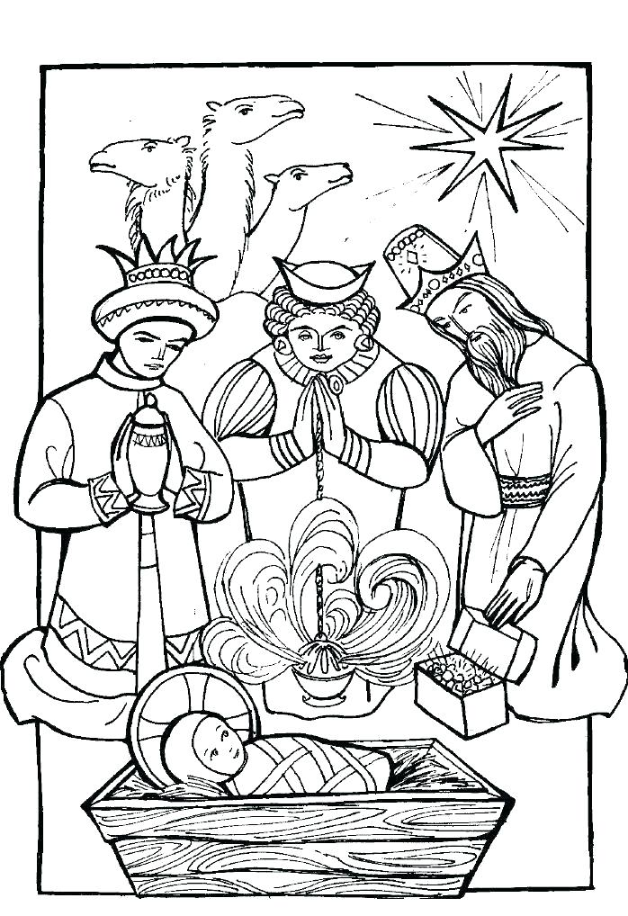698x1018 Three Kings Coloring Pages Three Kings On Nativity Of Coloring