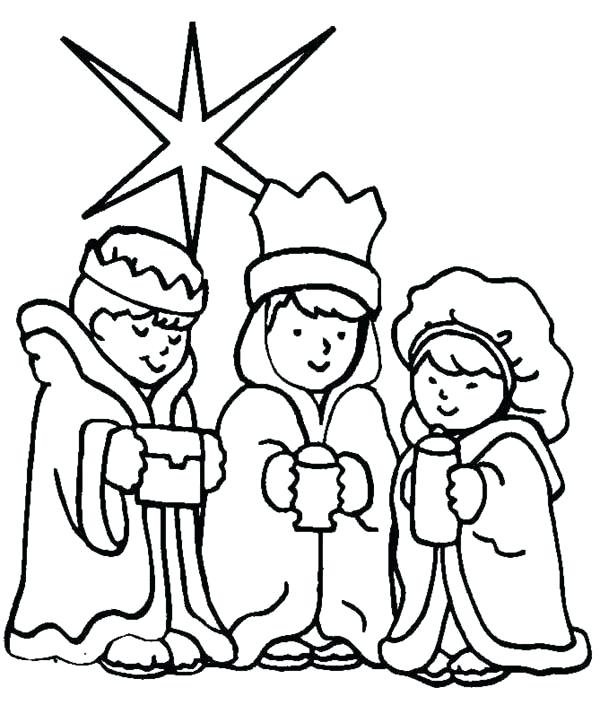 600x705 Three Wise Men Coloring Pages Three Wise Men On Day Coloring Page