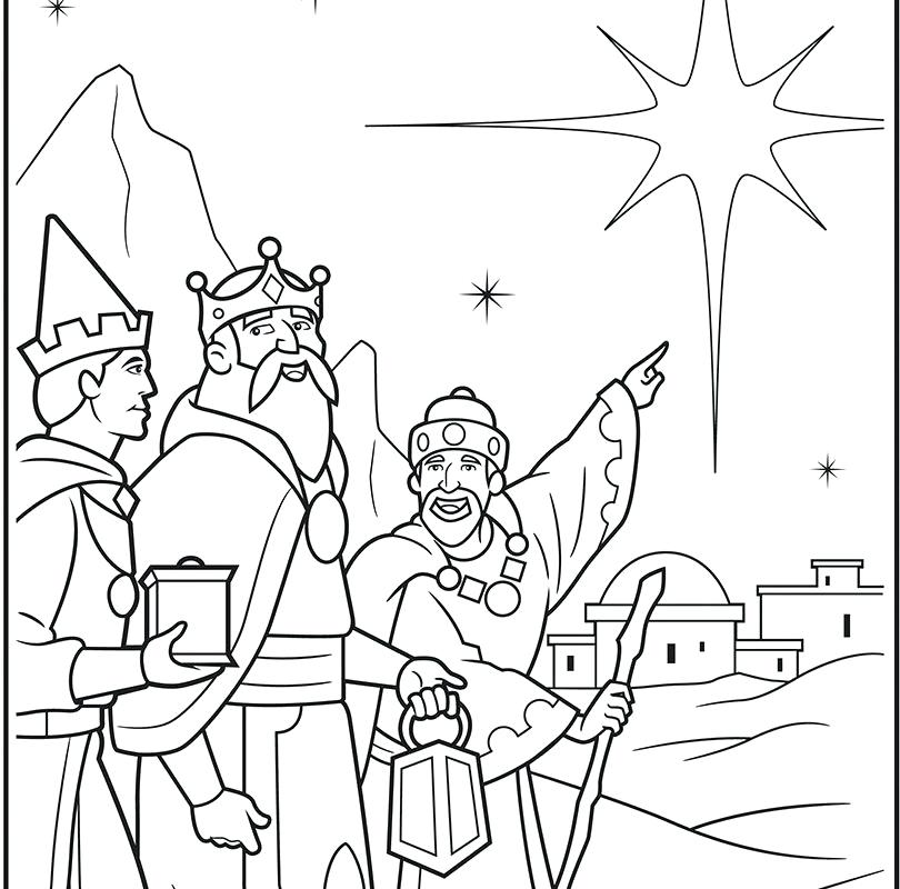 810x800 Wise Men Coloring Pages Wise Men Coloring Page Free Printable