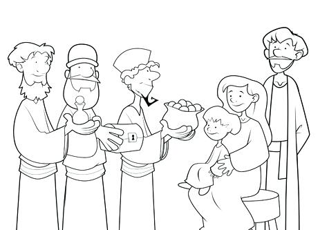 476x333 Wise Men Coloring Page