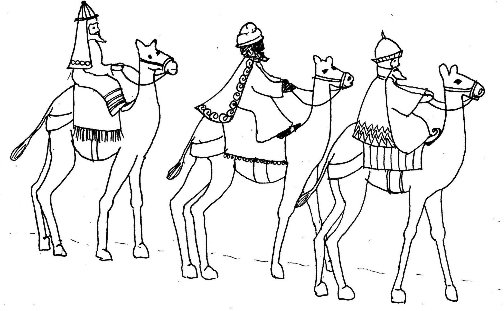 504x311 Wise Men Coloring Page Printable
