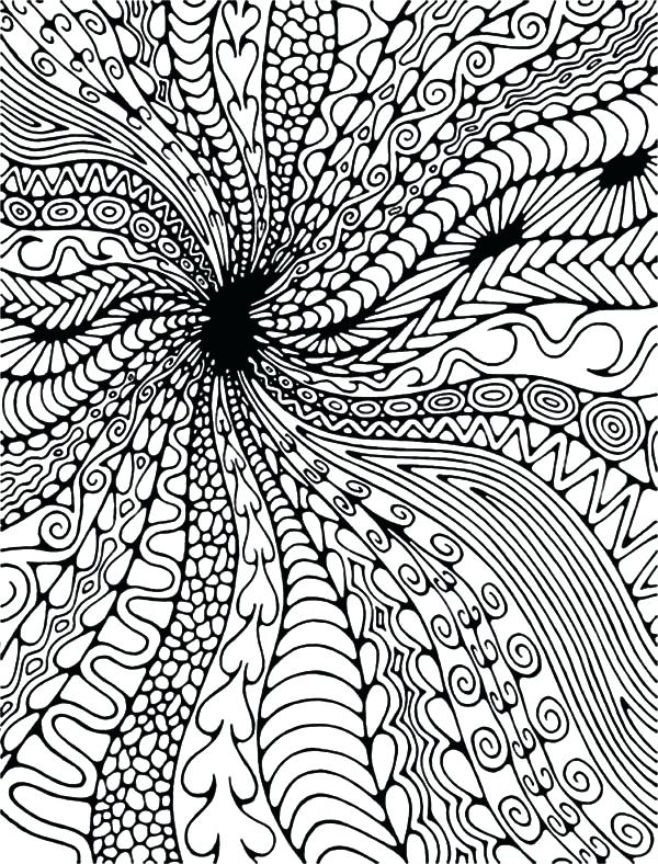 600x788 Amazing Abstract Coloring Pages Or Black Hole Abstract Coloring