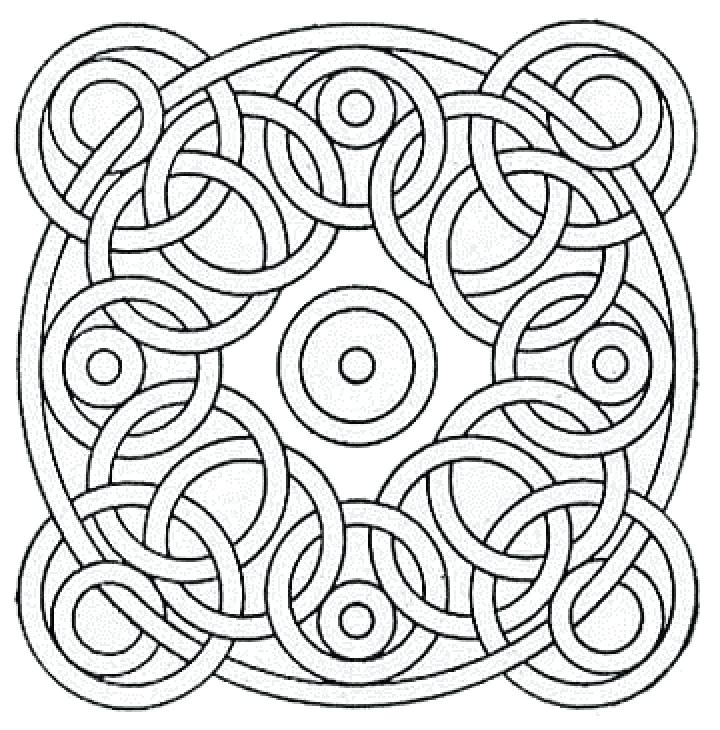 720x730 Free Geometric Pattern Coloring Pages For Adults Geometric Free