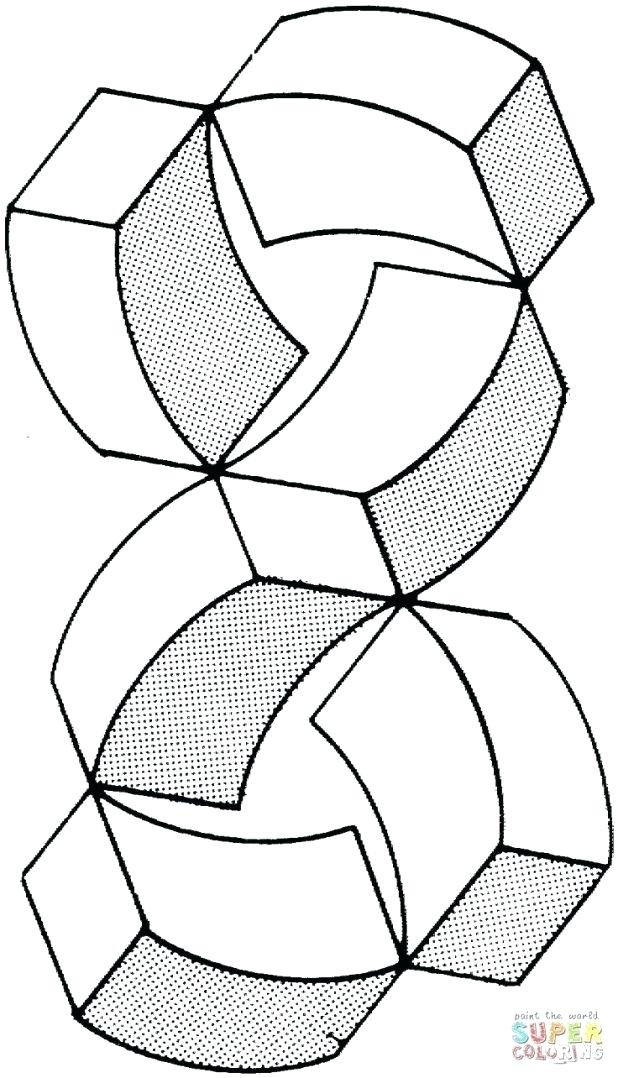 618x1078 Coloring Pages Printable Optical Illusion Coloring Page