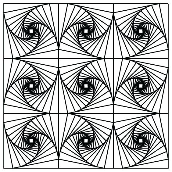 564x564 Coloring Pages Printable Optical Illusion Coloring Pages