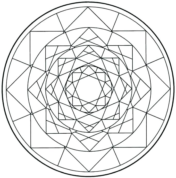 683x694 Coloring Pages Shapes Coloring Pages Geometric Shapes Free