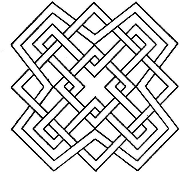 630x604 Geometric Shapes Coloring Pages