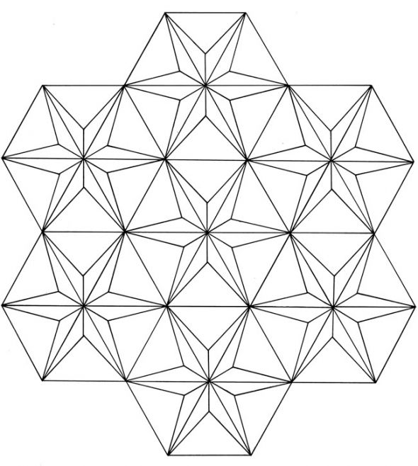 590x658 Geometric Coloring Pages