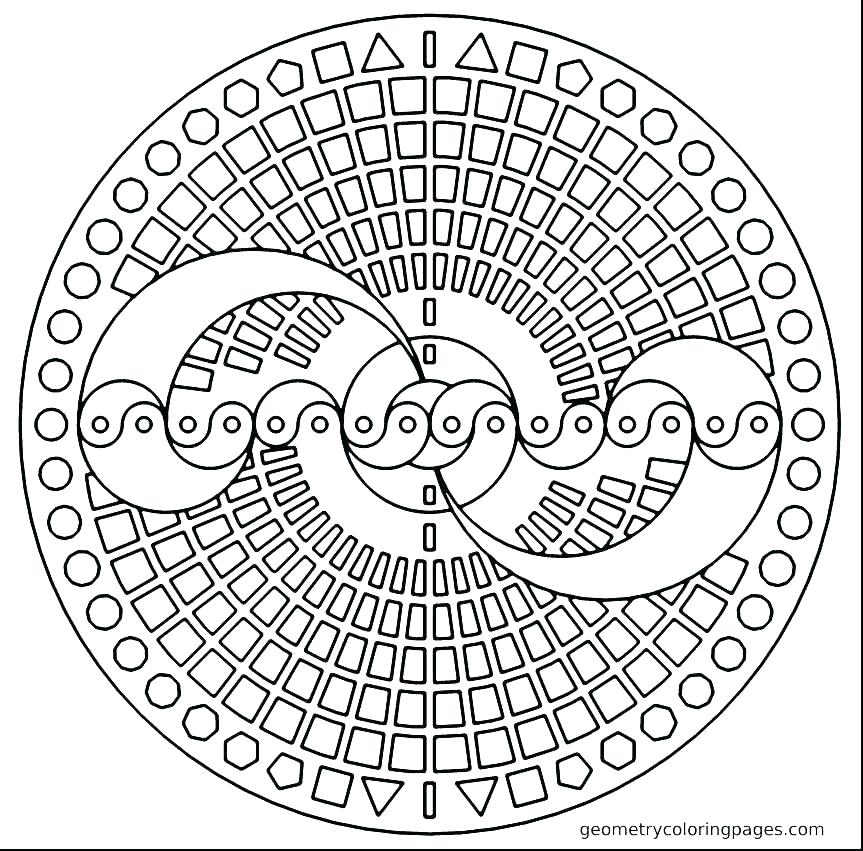 863x851 Coloring Pages Geometric Geometric Shapes Coloring Pages