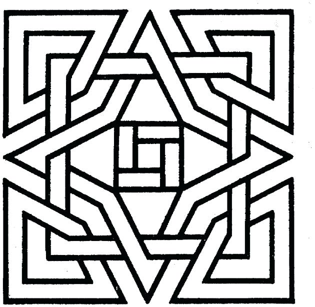 630x614 Coloring Pages Printable Geometric Mandala Coloring Pages