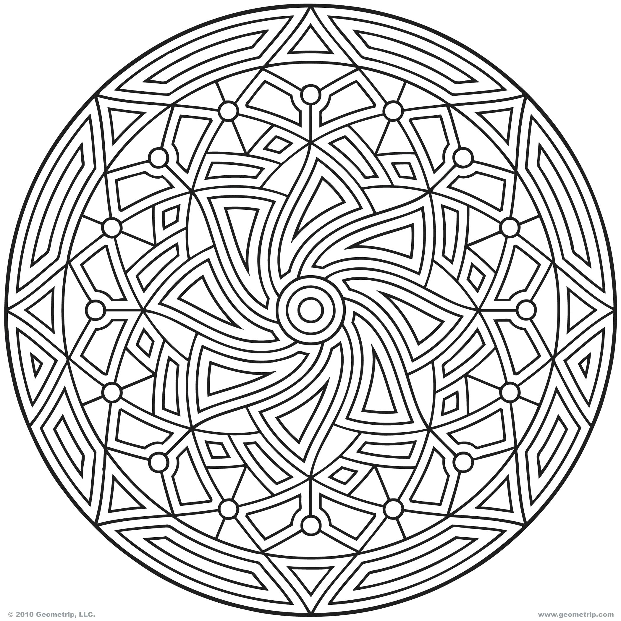 2100x2100 Geometric Design Coloring Pages Designs Page Free Art Printable