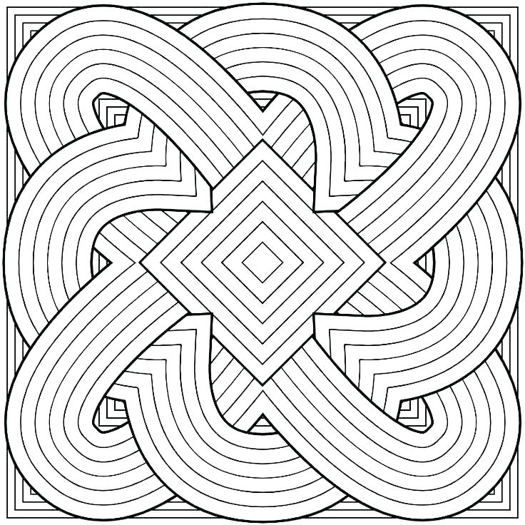 736x736 Geometric Design Coloring Pages Geometric Colouring Pages