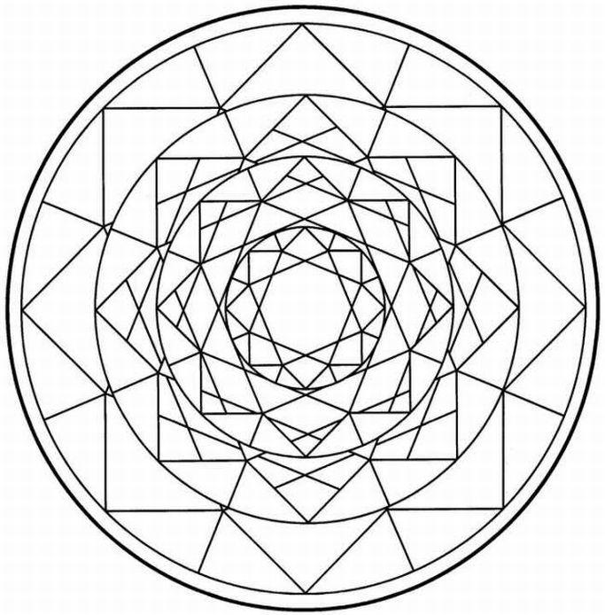 683x694 Printable Mandalas Coloring Pictures Mandala Coloring Book