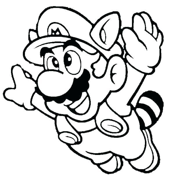 600x610 Super Mario Printable Coloring Pages Super Printable Coloring