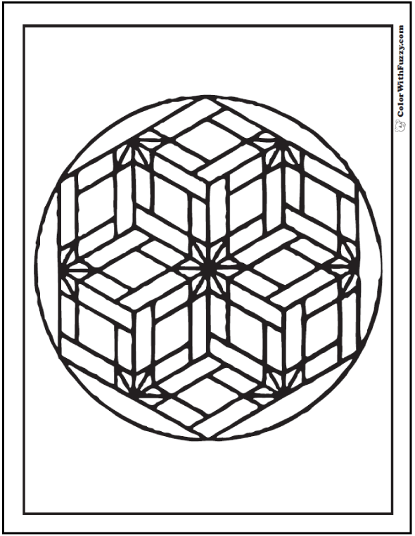 3d Geometric Coloring Pages At Getdrawings Com Free For Personal