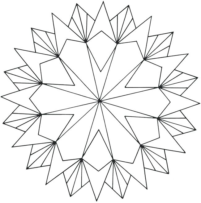 650x658 Geometric Design Coloring Pages Geometric Coloring Pages