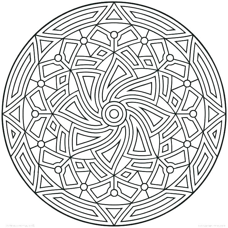 736x736 Geometric Design Coloring Pages Geometric Coloring Pages Free