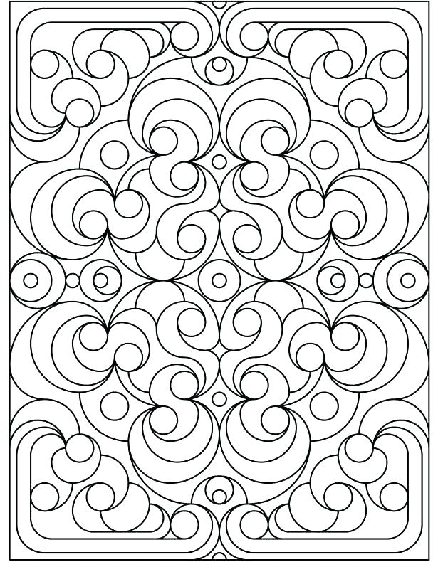 615x790 Geometric Design Coloring Pages Quilt Pattern Coloring Pages