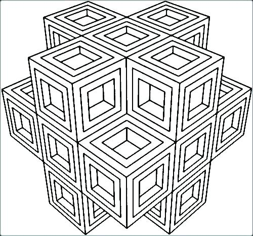 500x466 Geometric Designs Coloring Pages Cool Design Coloring Sheets