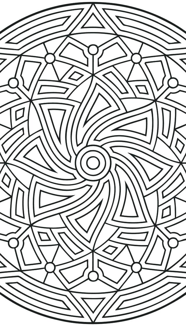 640x1136 Geometric Shape Coloring Pages Geometric Shapes Cartoon Coloring