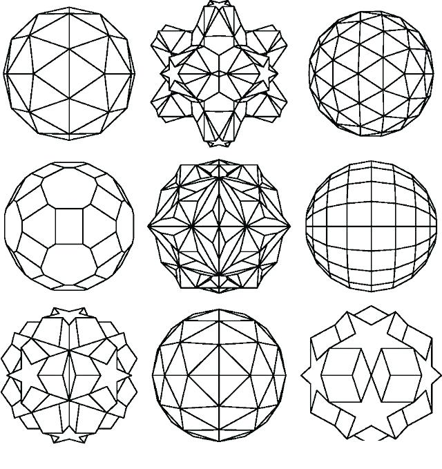 640x679 Geometrical Design Coloring Pages Printable Geometric Coloring