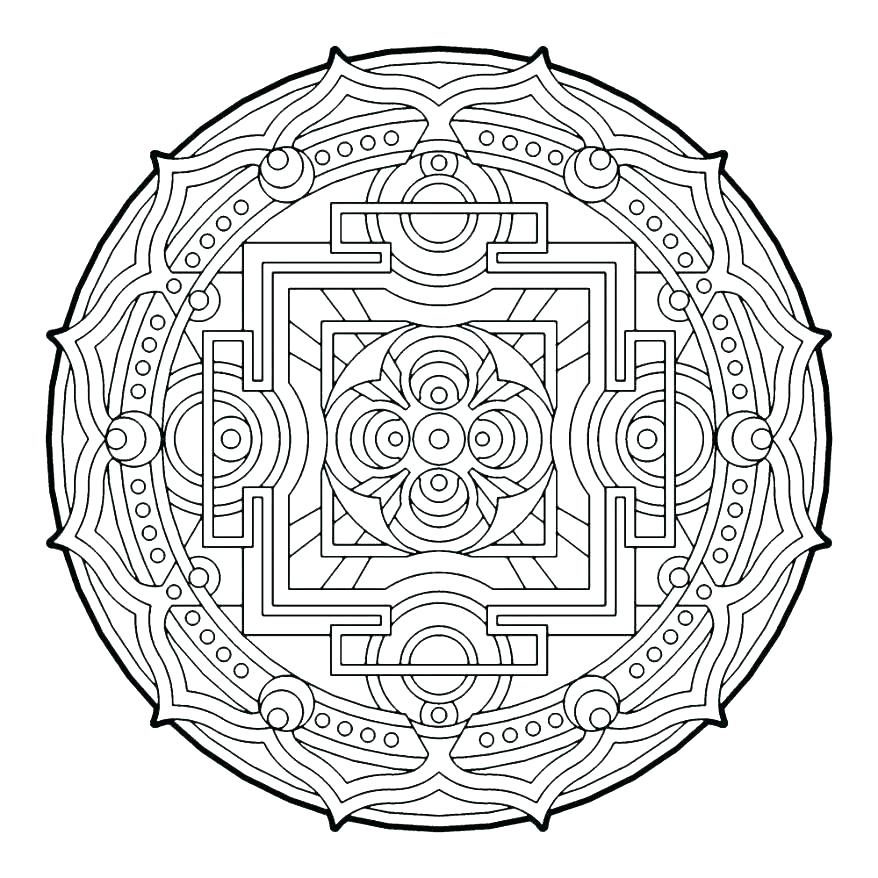 878x878 Coloring Pages Geometric Design Coloring Pages Geometric