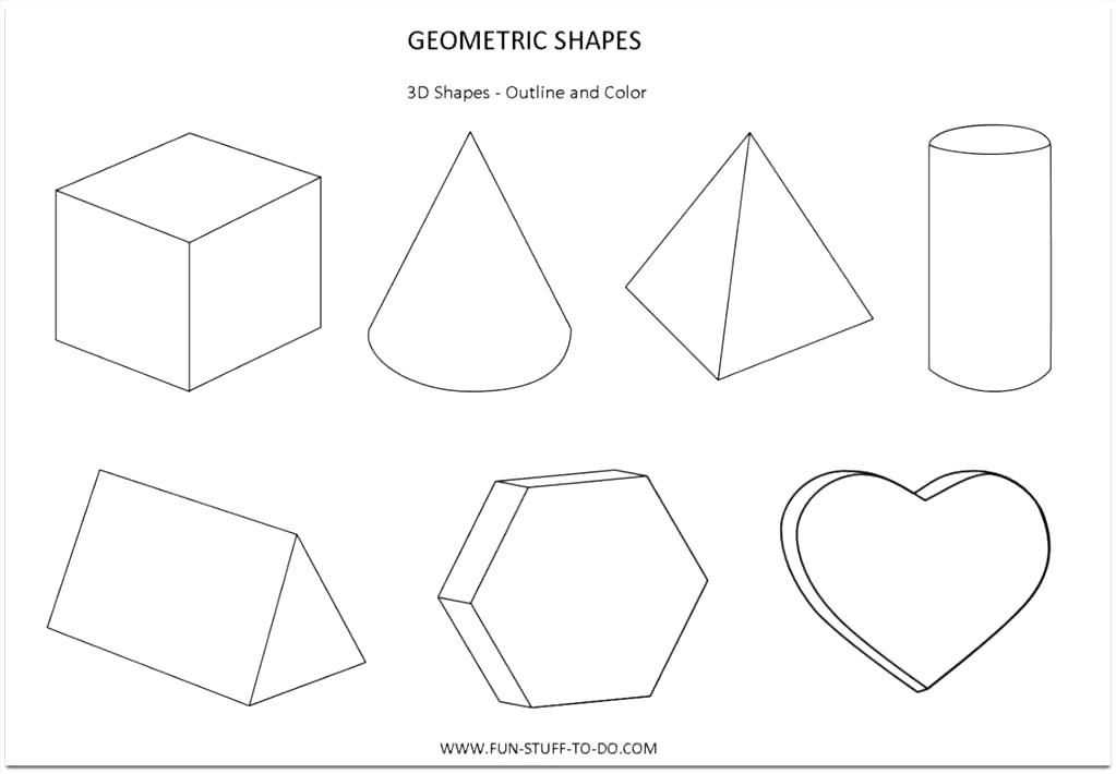 picture about Printable 3d Shapes identify 3d Styles Coloring Web pages at  Free of charge for