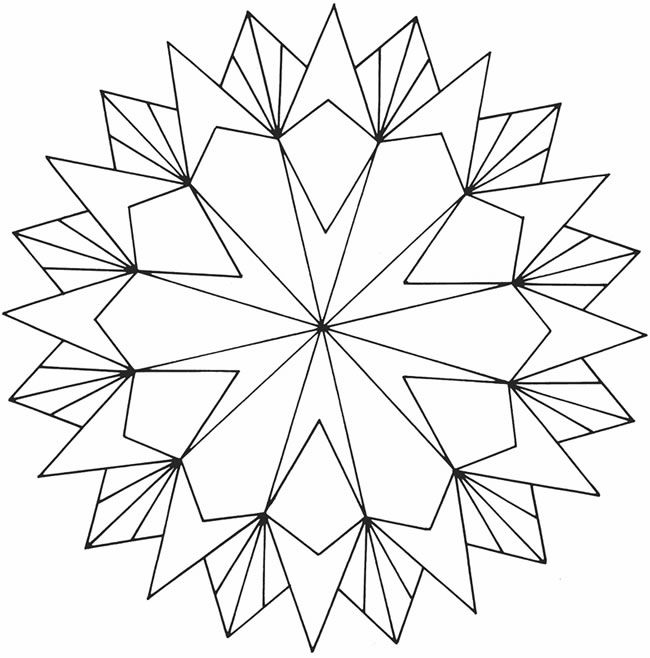 3d Star Coloring Pages