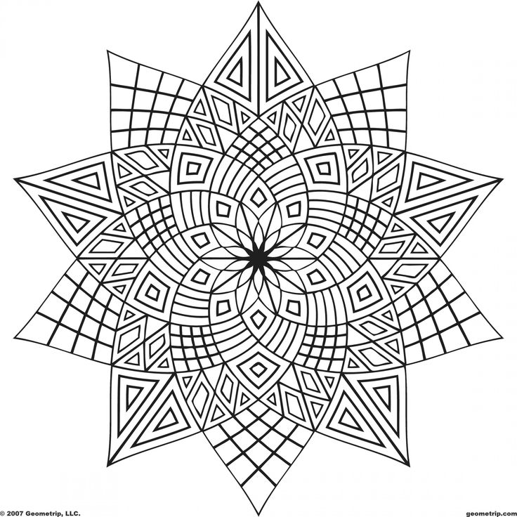 736x736 Fanciful Design Coloring Pages Abstract Free Printable Momjunction