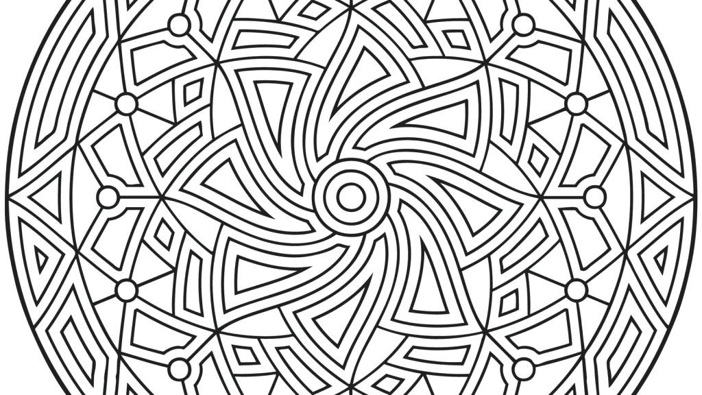 1024x576 Geometric Design Coloring Pages Geometric Coloring Pages