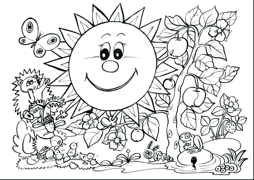 1024x725 Spring Coloring Page Spring Coloring Page Spring Coloring Pages