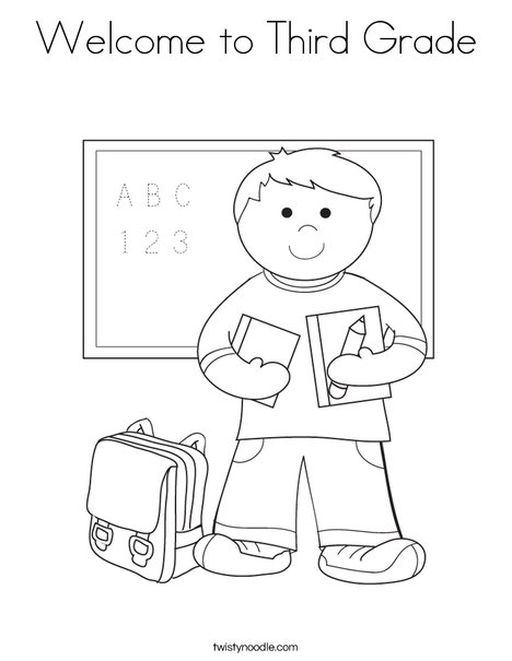 468x605 Welcome To Third Grade Coloring Page