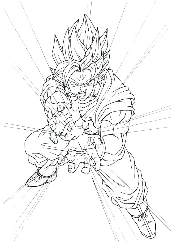 728x1025 Goku Super Saiyan Coloring Pages Super Colouring Pages
