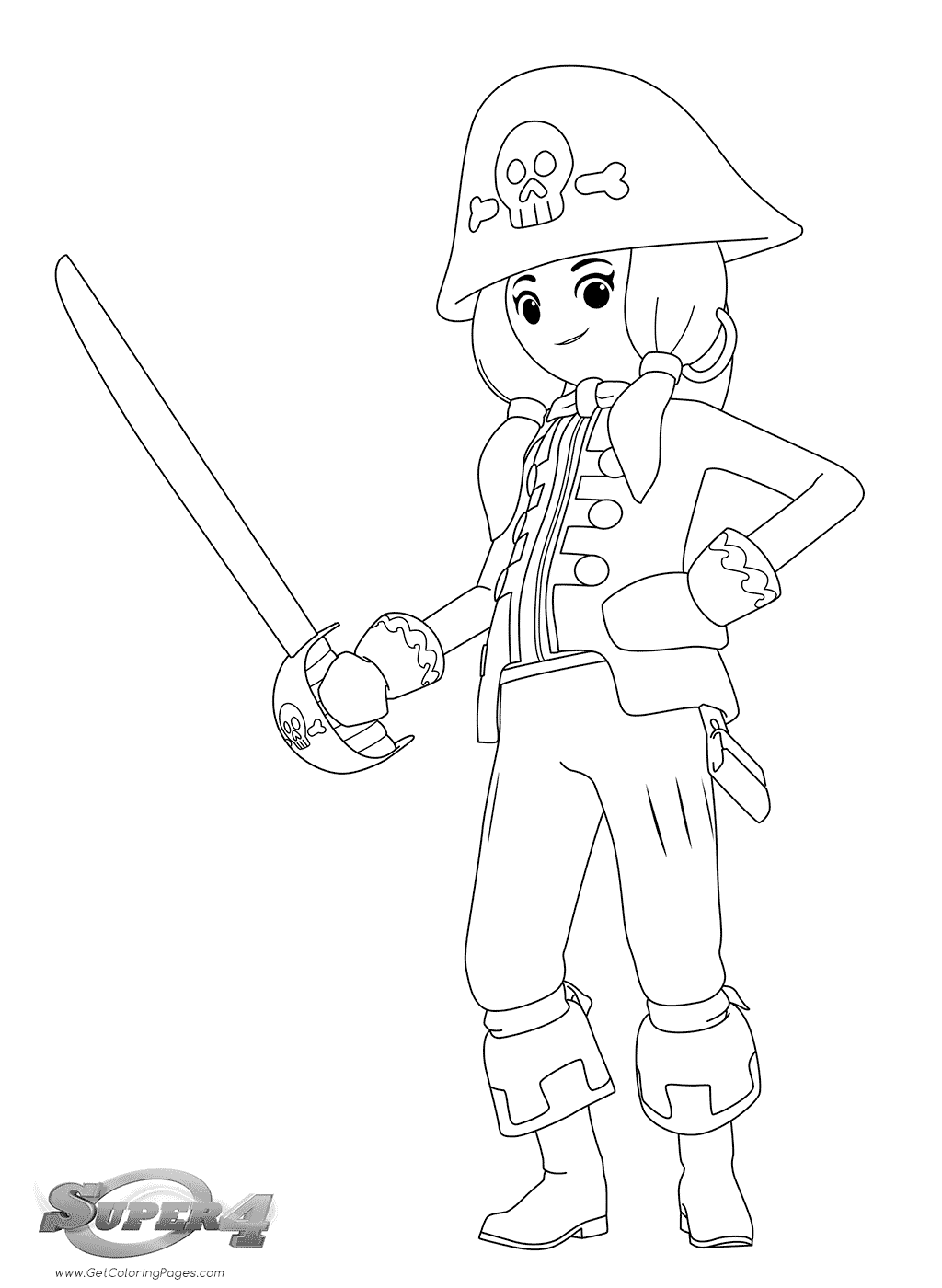 1024x1400 Playmobil Super Coloring Pages Girl Pirate