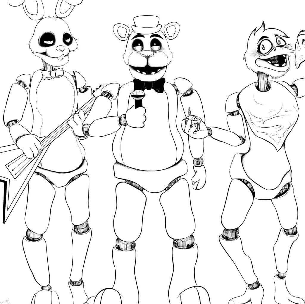 1024x1023 Fnaf Coloring Pages Coloring Pages For Kids