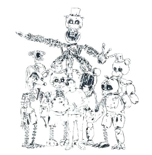 500x512 Fnaf Coloring Pages Nightmare