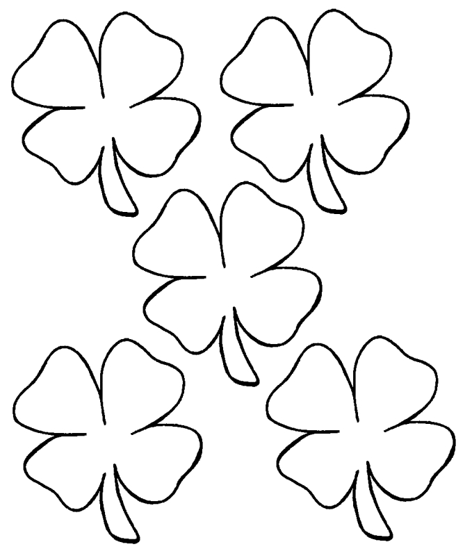 679x790 Leaf Clover Coloring Page Selection Free Coloring Pages