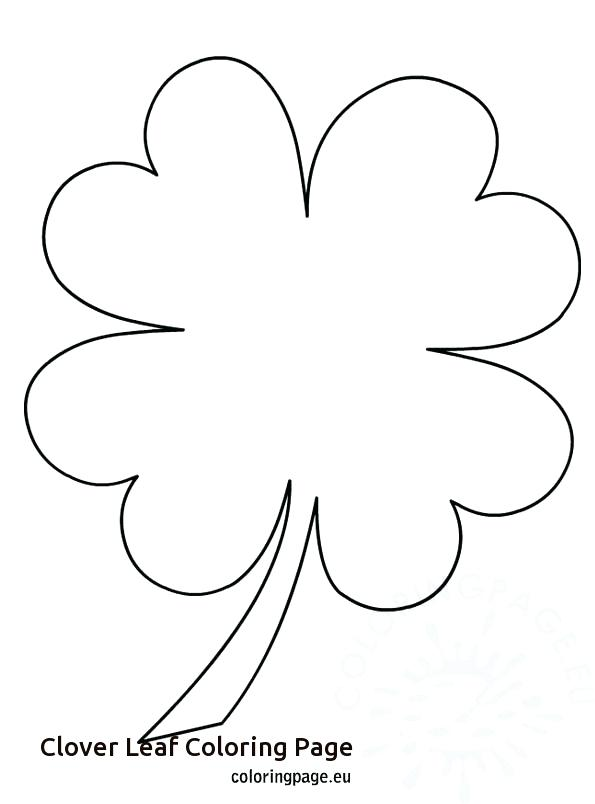 595x804 Clover Coloring Page Leaf Clover Coloring Page For Clover Leaf