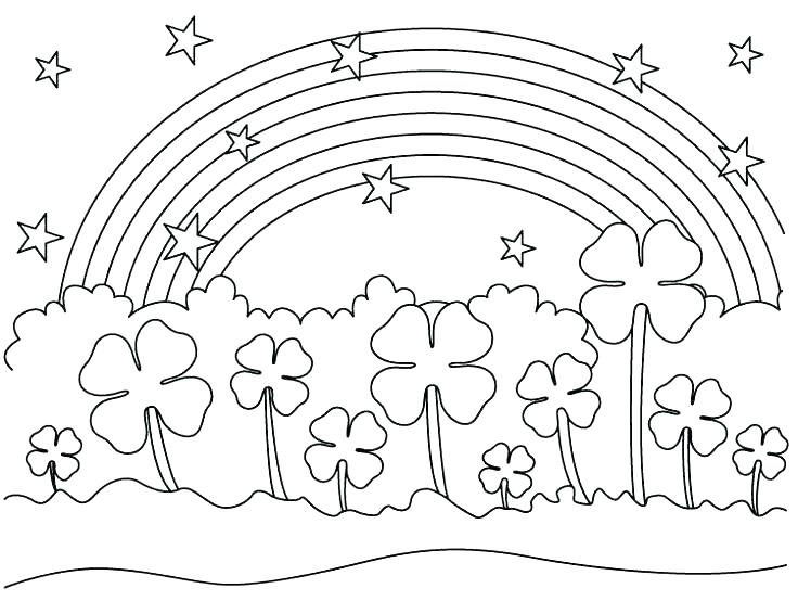 736x566 Four Leaf Clover Coloring Page Four Leaf Clover Coloring Sheet