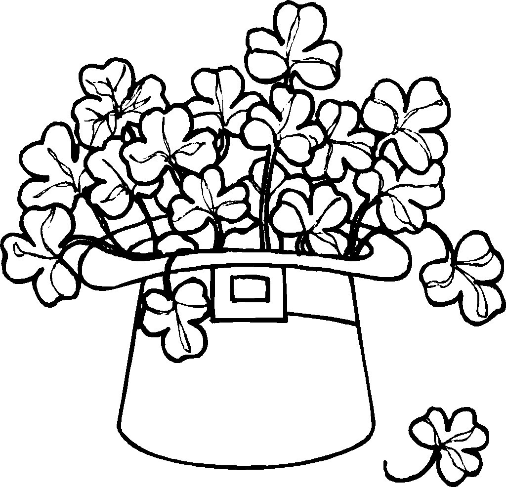 1024x986 Free Printable Shamrock Coloring Pages For Kids Cool Four Leaf