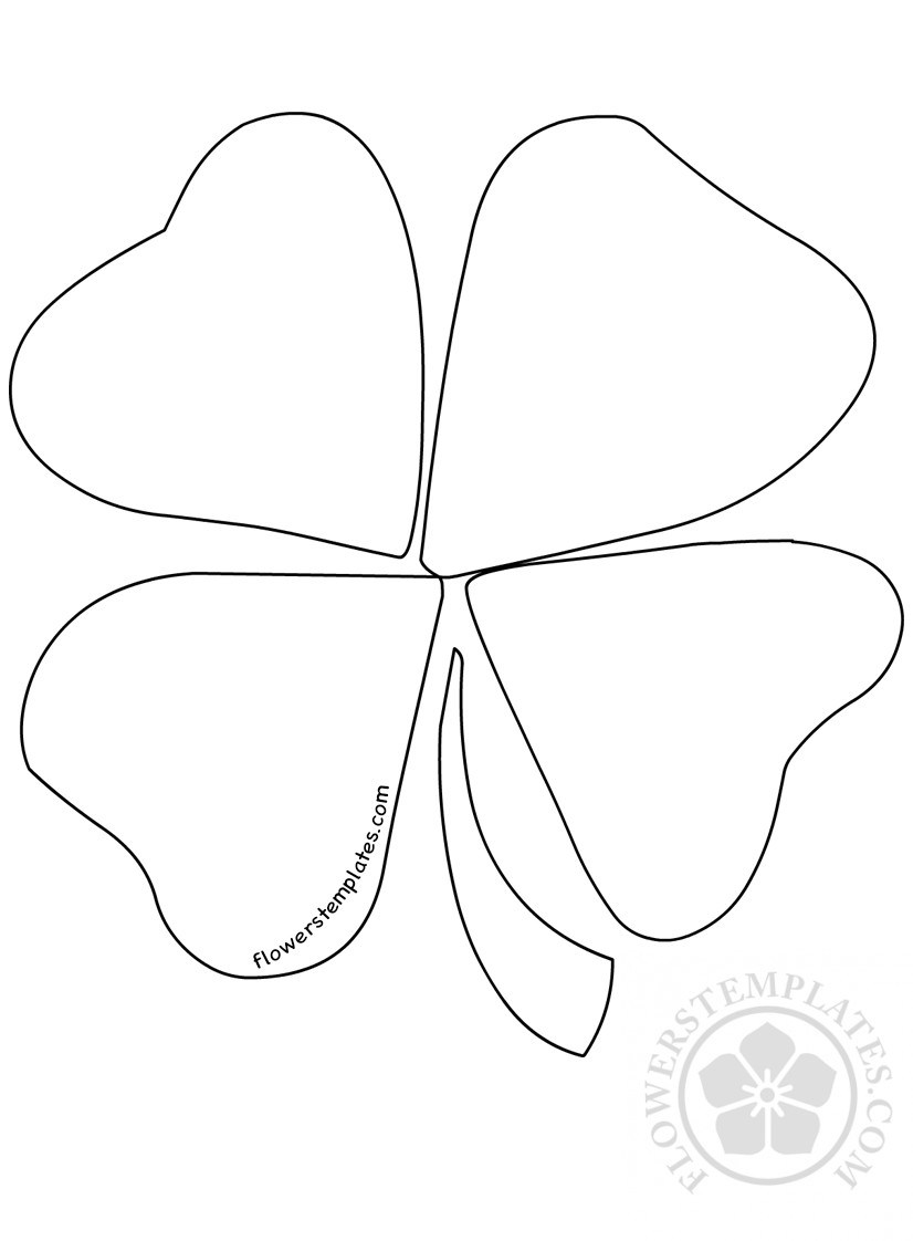 826x1122 Leaf Clover Coloring Page