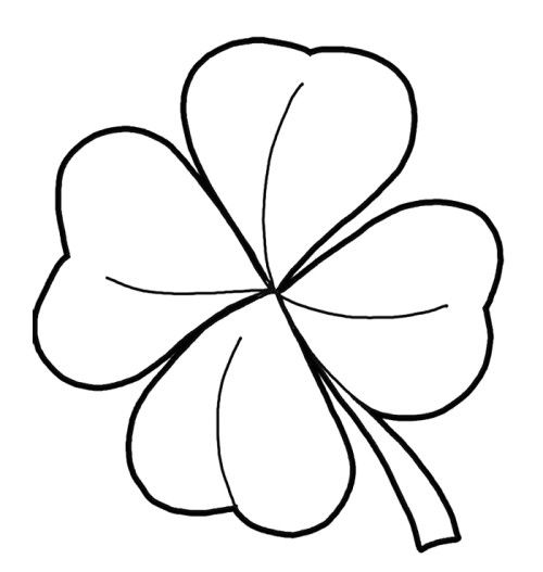 500x527 Pictures Four Leaf Clover Coloring Pages Kids Coloring Pages