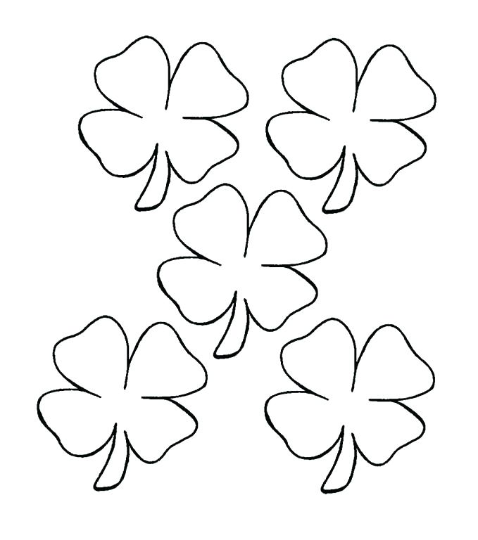 679x768 H Clover Coloring Pages Leaf Clover Coloring Page Leaf