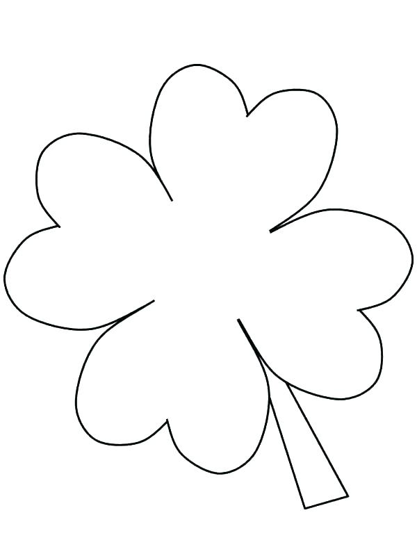 600x800 Clover Coloring Free Printable Four Leaf Clover Coloring Pages
